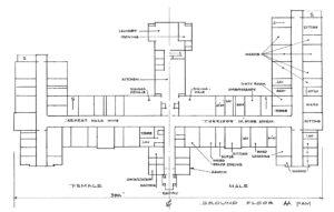 Floor plan of the Brandon Asylum, Brandon, Manitoba