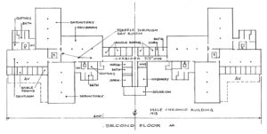 Floor plan of the Hospital for the Mind, Coquitlam, BC