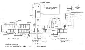 Floor plan of the Provincial Asylum for the Insane, New Westminster, BC