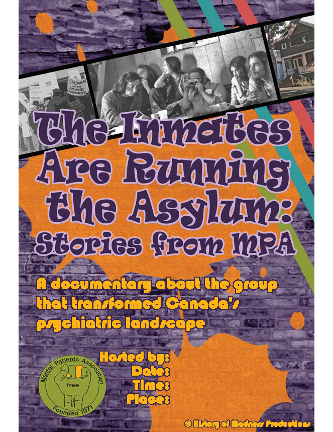orange and purple movie poster for The Inmates Are Running the Asylum