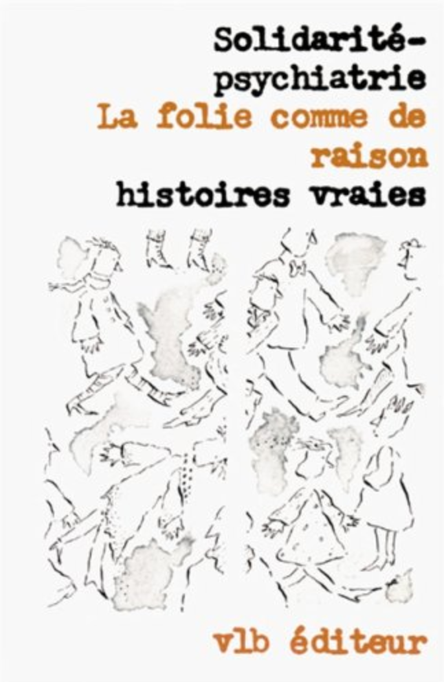 white book cover with french title and sketch of people walking every which way