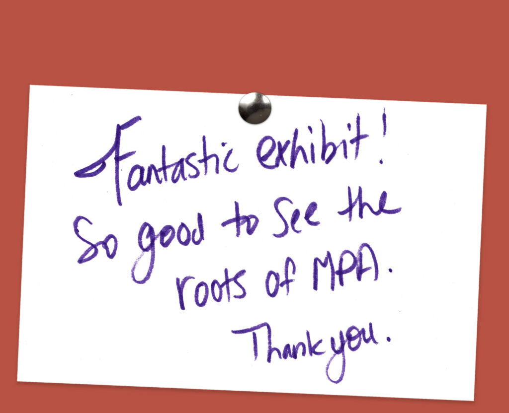Legacies of MPA - Visitor Feedback Comment Card