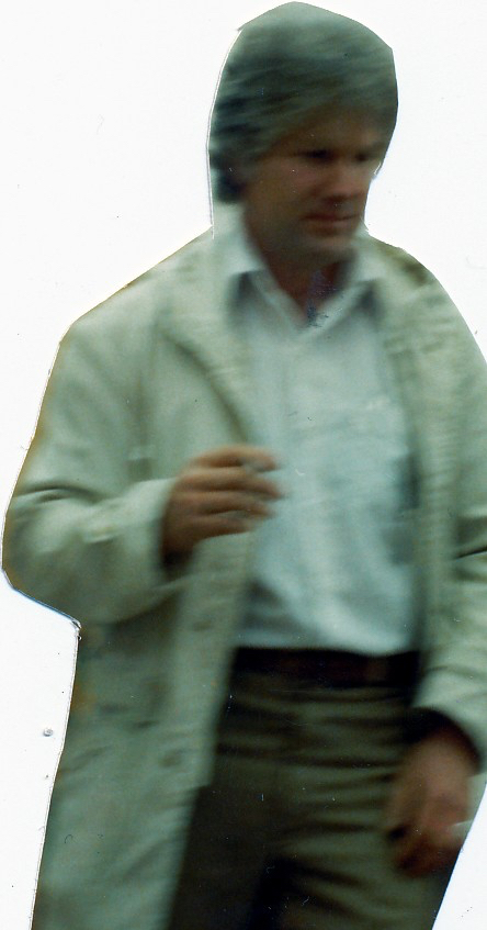 man with white coat