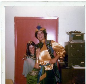 woman and man in costume